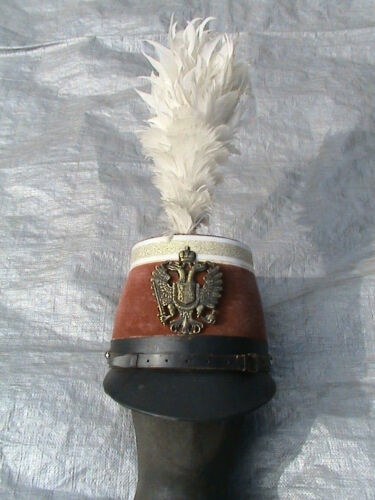 OLD MILITARY SHAKO with PLUME in nice condition - BARGAIN
