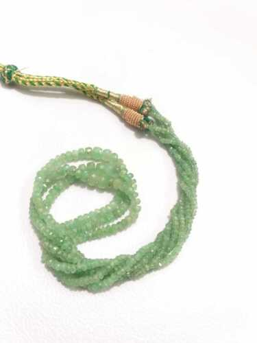 Emerald Natural Faceted Beads, Genuine Emerald Beads Colombian, Green Necklace