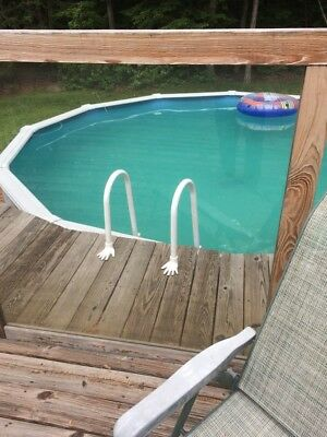 ABOVE GROUND POOL LADDER ANCHORS, LADDER TO DECK FLANGES