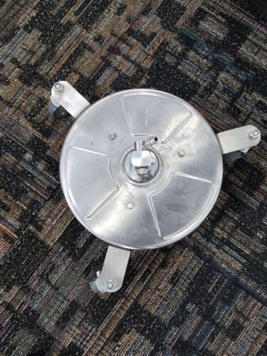 """12"""" Stainless Steel Surface Cleaner with Wheels for Pressure Washer"""