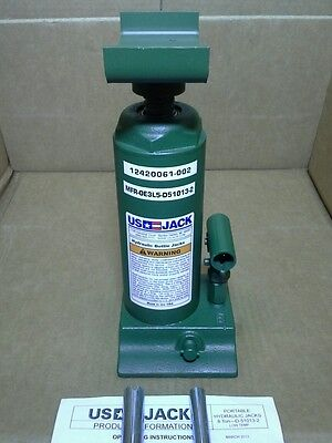 ARCTIC KIT VERSION US JACK 8 TON HI-LIFT HYDRAULIC BOTTLE W/ADAPTER MADE IN USA