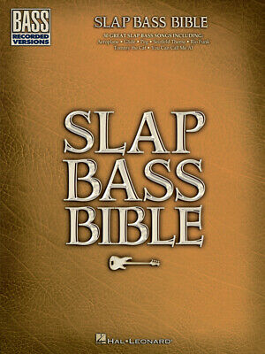 SLAP BASS BIBLE Bass Recorded Versions MUSIC BOOK W/TAB-NEW ON SALE SONGBOOK!!