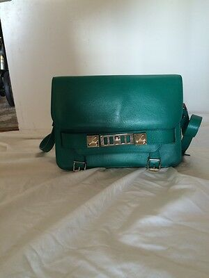 PROENZA SCHOULER Calfskin PS11 Classic Shoulder Bag Emerald