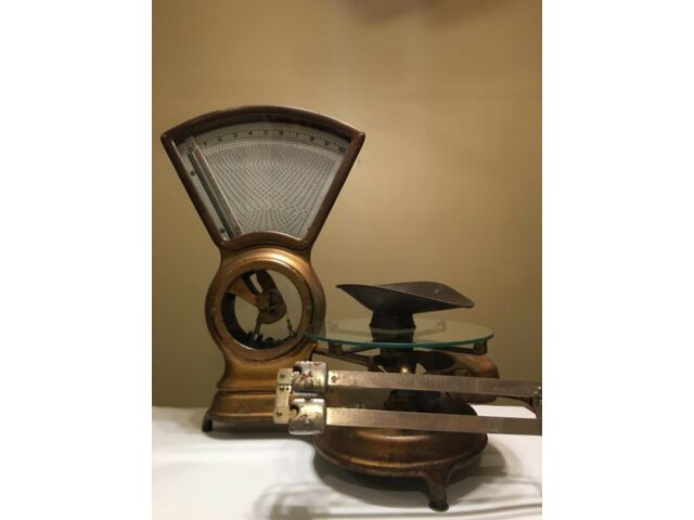 Stimpson Computing Scale-Mercantile Brass 10 lbs-Patented 8-20-1907 (BEST OFFER)