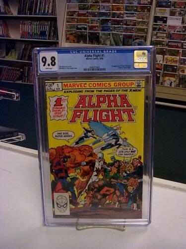 ALPHA FLIGHT #1 (Marvel Comics, 1983) CGC Graded 9.8! ~ White Pages