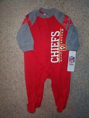 Kansas City KC Chiefs nfl INFANT BABY NEWBORN Jersey Pajamas 3-6M 3-6 -