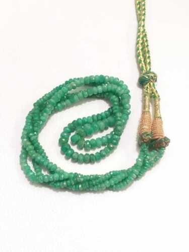 Necklace Colombian Emerald Round Faceted Beads Genuine Emerald Beads 16