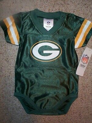 Green Bay Packers #00 nfl INFANT BABY NEWBORN CREEPER Jersey 0-3M 0-3 Months (Green Infant Nfl Jersey)
