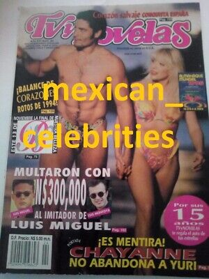 TV Y NOVELAS MAGAZINE 1994 YURI CHAYANNE PACO STANLEY VERONICA CASTRO