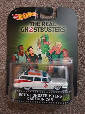 SEALED, CARDED, BOXED - Hotwheels Mattel Diecast THE REAL GHOSTBUSTERS ECTO-1