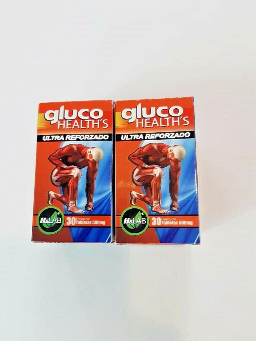 2 Pack Gluco Reforzado Dolor De Articulaciones Glucosamina Chondroitin Capsulas