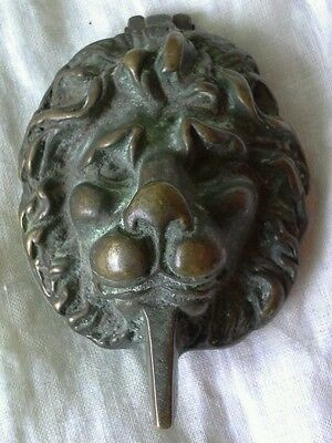 Vintage Brass Door Knocker. Lion Head. Period