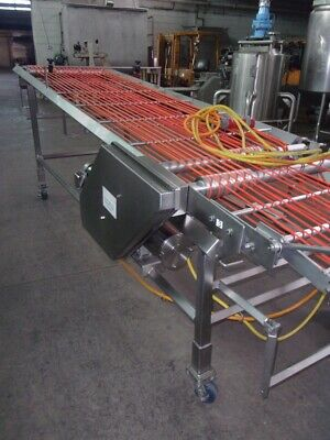 Stainless Steel Incline Band Conveyor 36 Inches Wide X 144 Inches Long Sanitary