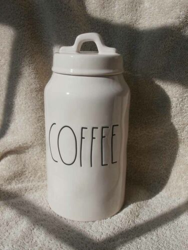 """NEW Rae Dunn COFFEE Ceramic Canister 9 1/2"""""""