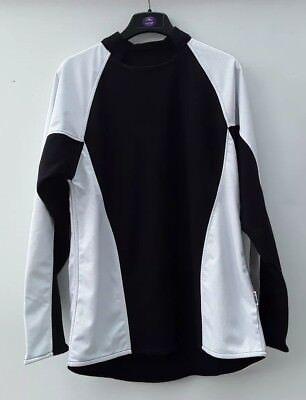 Mens Sports Rugby Football Reversible Black/White Shirt Endu Gift Idea 38/40 New