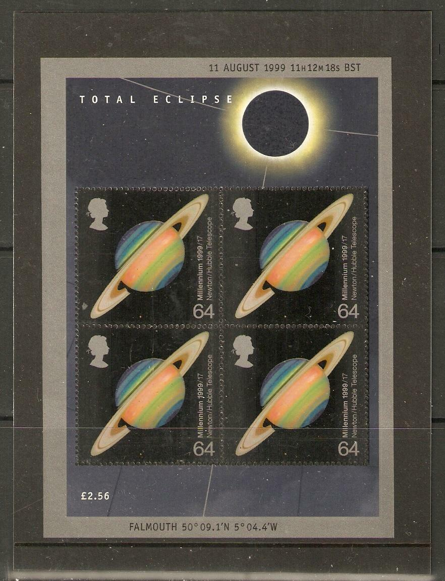 GB SGMS2106 1999 TOTAL ECLIPSE M/S MNH