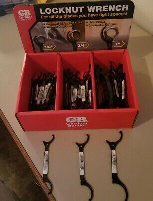 3 New Gardner Bender Locknut Wrench Kit 1 34 12 Wrench Tool Lnw Kit