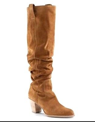 Christian DIOR CD runway tan tall over the knee suede boots 38 US 7.5  8