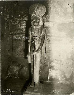 Original Photo, G. Sahe (?) Karnak, Sachmet, ca 1900