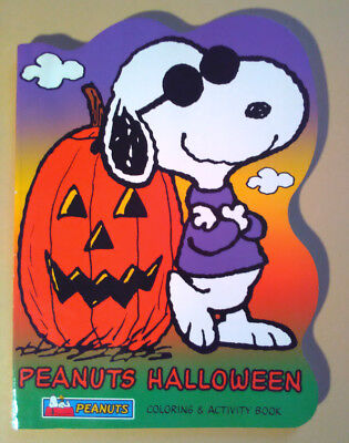 Coloring Activity Book~ PEANUTS Charlie Brown ~Halloween ~Linus~Snoopy ~Cartoon