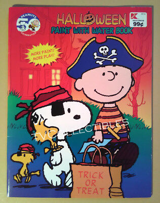 Watercolor Paint Book~ PEANUTS Charlie Brown ~Halloween ~Linus ~Snoopy~Cartoon