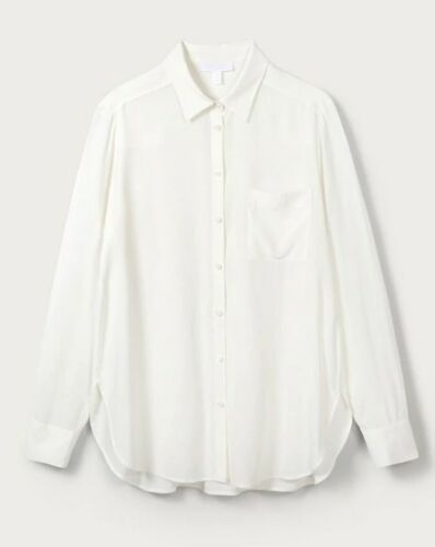 NEW WOMEN'S THE WHITE COMPANY SILK BUTTON UP SHIRT BLOUSE IN IVORY – SIZES 4 & 6 Clothing, Shoes & Accessories
