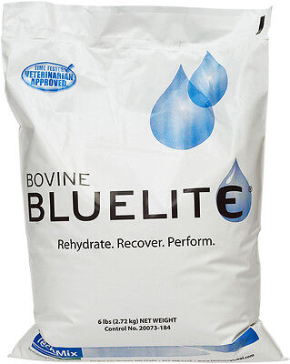Bovine Bluelite Fight Dehydration Encouraging Water Consumption Cattle 6lb Pkg.
