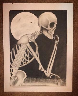 ORIGINAL ARTWORK! Graphite Pencil Medium, OVERNIGHT SHIPPING for - Halloween Overnight Shipping