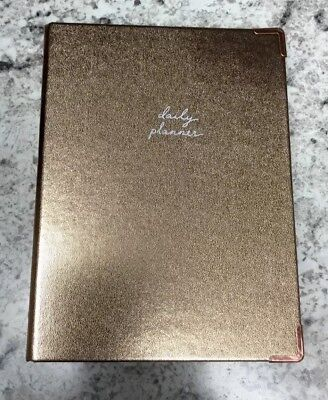 Target Mini Binder Daily Planner Organizer 3-ring Binder Gold Copper Corners