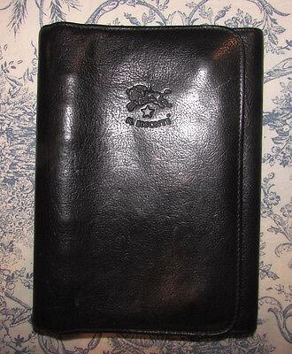 Vintage Il Bisonte Italy Black Leather Organizer Planner W.a. Di Filippo Design