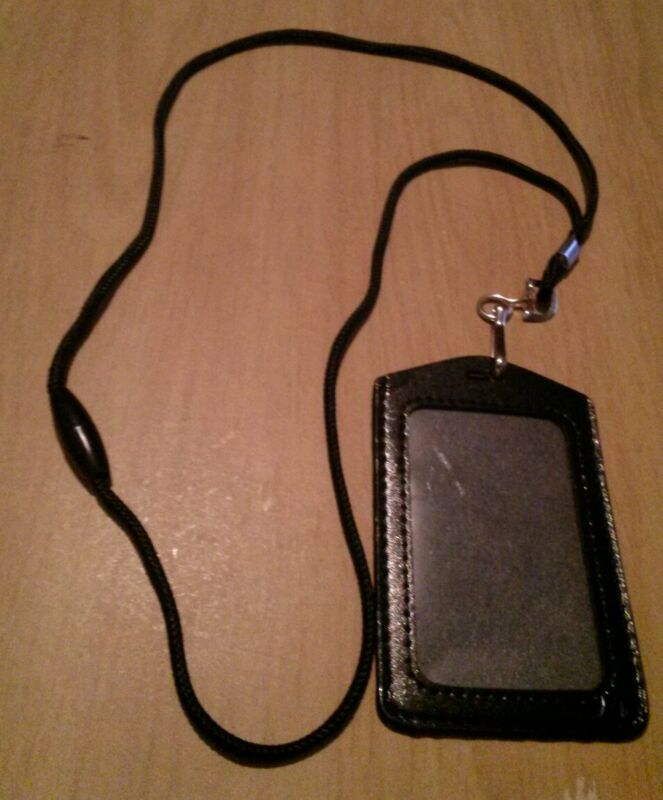 Business Government ID Neck Strap Pass Badge Card Holder with Lanyard Office