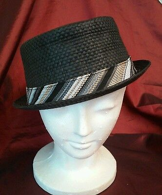 Wool Felt Black Godfather Gangster Homburg Bowler Hat Costume Wedding Formal LG