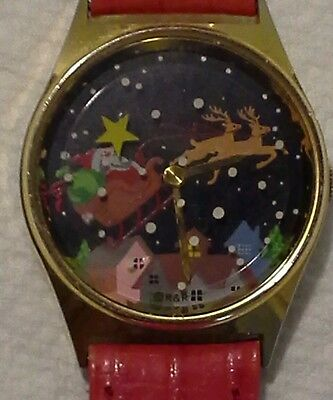 R&R New Jerrey. Santa's sled analog watch. Swiss movement. New battery.