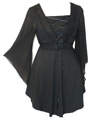 Women Plus Size Black Corset Gothic Halloween Top Size 12 14 16 18 20 22 24 NEW ()