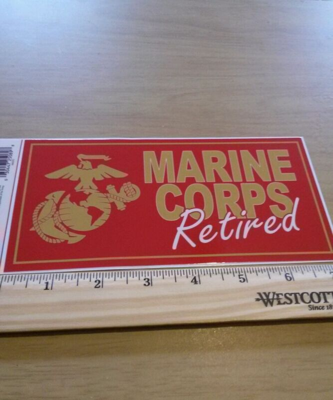 Lot of 3 usmc united states marine corps retired bumper stickers