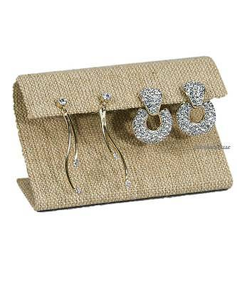 Modern Burlap Earring Display Stand Curved Earring Stand Jewelry Display 2 14h