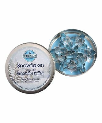 Snowflake Cookie Cutter - Snowflake Set Cookie Cutter in Tin 5 pc Set