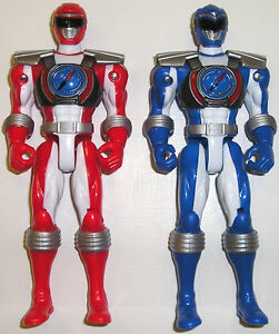 Power Rangers Operation Overdrive Red & Blue Twin Figure Pack