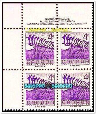 CANADA 1956 CANADIAN CARIBOU NO. 1 MINT FV FACE 16 CENT MNH STAMP CORNER BLOCK