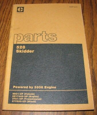 Caterpillar Cat 528 Log Skidder Parts Catalog Manual Book 1983 Sebp1413 Original