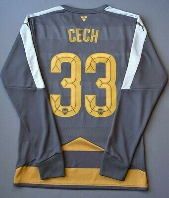 37d297e0353 5/5 Cech Arsenal jersey medium long sleeve shirt nike soccer football ig93