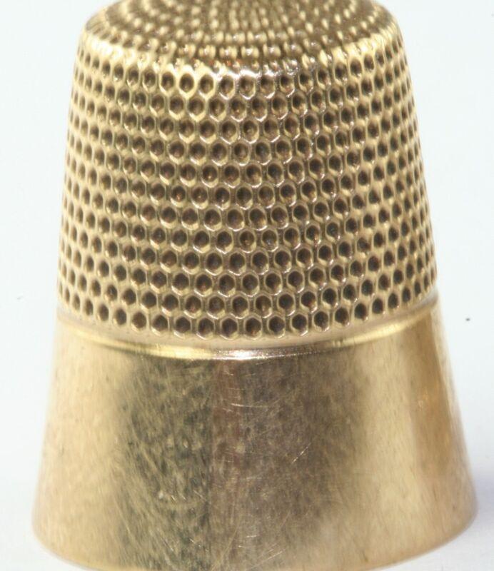 VICTORIAN ANTIQUE 10K GOLD KETCHAM MCDOUGALL THIMBLE 4.4 GRAMS
