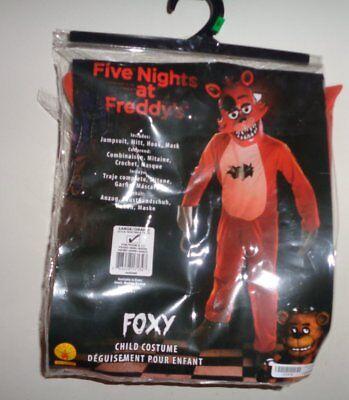 L NIP Childs FFAN Five Nights Freddys Foxy Costume Halloween Jumpsuit Hook Mask - Freddy Girl Halloween Costume