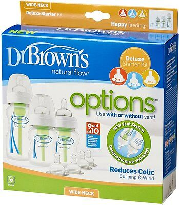 Dr Brown's Options Anti-Colic Deluxe Starter Kit Ideal Gift Set
