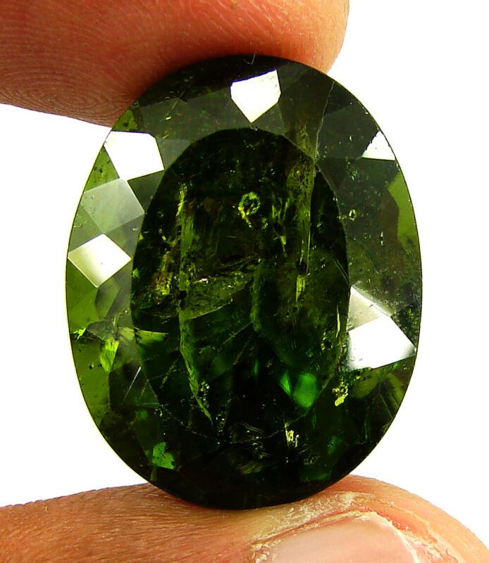 44.00 Ct Certified Natural Green Peridot Loose Gemstone Oval Cut Stone - 135464