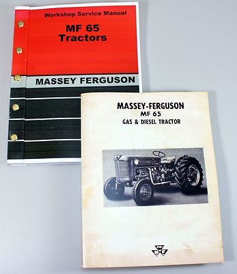 Set Massey Ferguson Mf 65 Tractor Tractor Service Repair Owners Operators Manual