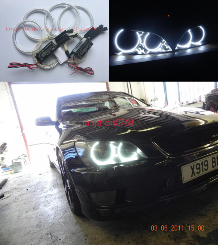 4pcs Excellent CCFL Angel Eyes kit Halo Rings For Lexus IS200 IS300 1998-2005