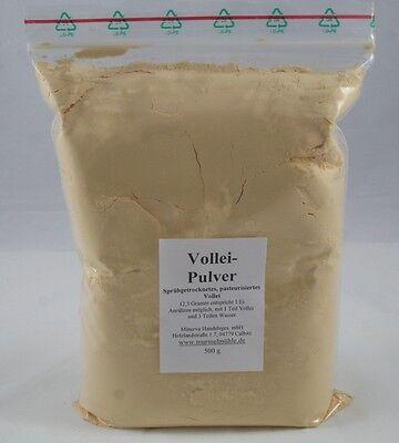 500 g Volleipulver, Eipulver, Vollei Premiumqualität sprühgetrocknet (1kg 16,-€)