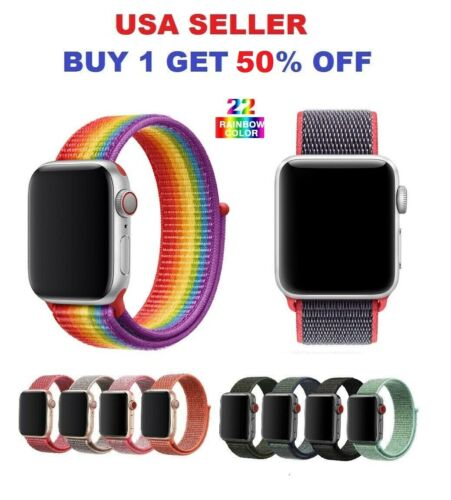 Woven Nylon Band For Apple Watch Sport Loop iWatch Series 4/3/2/1 38/42/40/44mm Jewelry & Watches