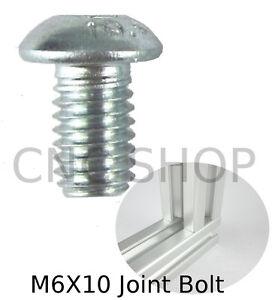 M6 X 10 Joint Bolt Aluminium T Slot Frame Profile